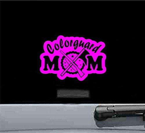 Colorguard Mom Vinyl Decal Sticker (HOT PINK) (Vinyl Guard Rim)