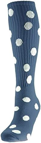 Red Lion Dots Athletic Socks ( Navy Blue / White - Medium )