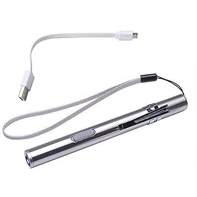 VESNIBA Portable USB Rechargeable LED Flashlights Waterproof Mini Torch Keychain Lamp