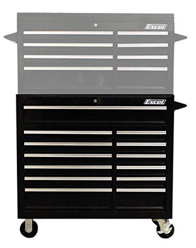 Excel TBR4013X-Black 42-Inch Steel Roller Cabinet, (Excel Roller)
