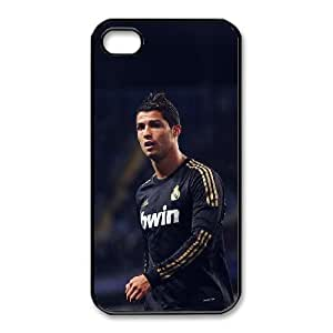Popular And Durable Designed TPU Case With Cristiano Ronaldo_005 For iphone 4 4s Cell Phone White Cover