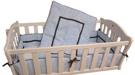 Baby Doll Bedding Hotel Style Mini Crib/ Port-a-Crib Bedding Set, Blue by BabyDoll Bedding