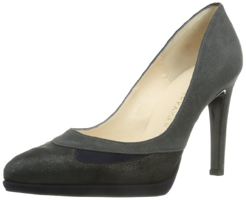925 Kaiser Toe Frost Mujer Hilanda Closed Navy Carbon Silber Suede Peter vdBqv