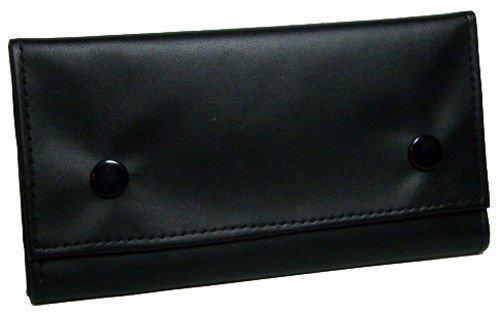 Jobey Black Lambskin Snap Pipe Double Pocket Pouch Cigarette Paper ()