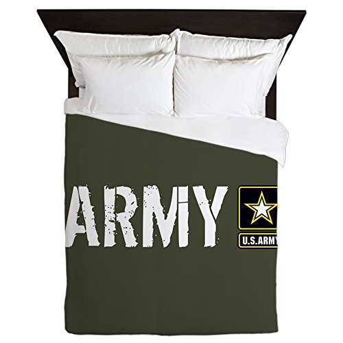 - CafePress U.S. Army: Army (Military Green) Queen Duvet Cover, Printed Comforter Cover, Unique Bedding, Microfiber