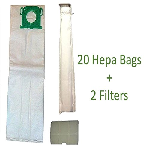 Micro Lined DVC Replacement for Sebo, Windsor, Kenmore HEPA Service Box Cloth Vacuum Bag and Filter Kit. 20 Bags and 2 Filters (5301ER and 5143) ()