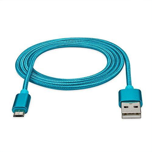 rocabo 1,2m Premium Micro-USB auf USB Kabel blau - Handy Lade-Kabel - Datenkabel - Synchronisation-Kabel - Nylonmantel - für Android, Samsung, HTC, Sony, Nokia, LG, HP Blackberry, Motorola und viele mehr