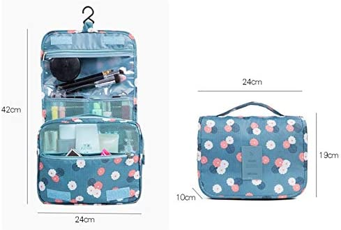 ZZFF 女性のメイクアップバッグ化粧品袋トイレタリーオーガナイザー防水ストレージNeceserのハンギングバスルームウォッシュバッグ旅行します (Color : Color21)