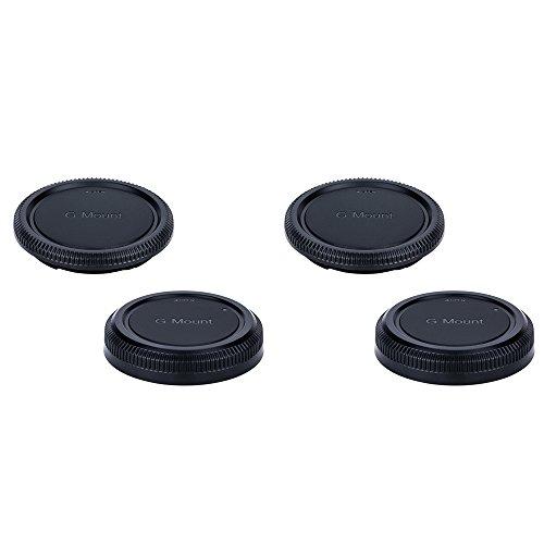 (2-Pack) JJC Body Cap and Rear Lens Cap Kit for Fuji Fujifilm G Mount Mirrorless Medium Format Camera (e.g. for Fujifilm GFX 50S camera) and G mount Lens (e.g. for Fujifilm GF 32-64mm f/4R LM WR Lens)