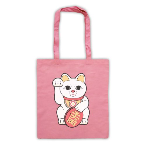 Maneki Lucky Bag Cat Pink Neko Tote YYqH6g