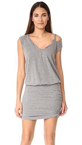 pam-gela-womens-slash-neck-ruched-dress-heather-grey-medium