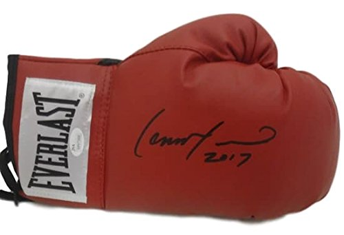 Lennox Lewis Autographed Everlast Red Boxing Glove JSA