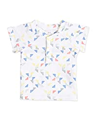 aden + anais Baby Henley T-Shirt, small triangles, 12-18M