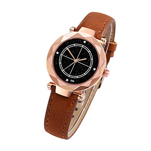 Hotkey Womens Bracelet Watches On Sale Quartz Watch Man's High-End Blue Glass Life Waterproof - Crystal Water Resistant Mens Glass