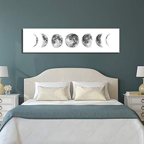 Cartel Eclipse Lunar Fotografia En Blanco Y Negro Decoracion Del Hogar Lienzo Pintura Moderna Minimalista Dormitorio Mesita De Noche Colgando Cuadro Sin Marco Pintura Nucleo (A/No Frame 30 120cm)