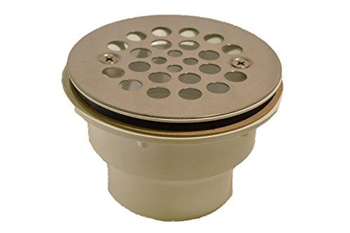 Plastic Oddities PFG600 Fiberglass Shower Stall Drain, Stainless Steel Strainer