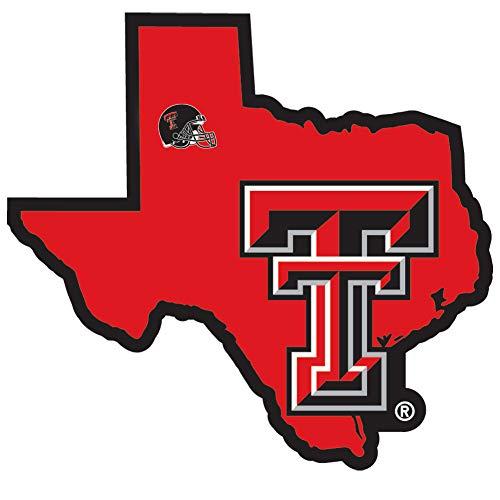 NCAA Texas Tech Red Raiders Home State Decal, 5