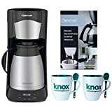 Cuisinart DTC-975BKN 12 Cup Programmable Thermal Brewer (Black) Includes Machine Descaling Powder and Set of Two Mugs with Spoons