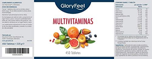 GloryFeel® Multivitaminas y Minerales - 450 Comprimidos ...