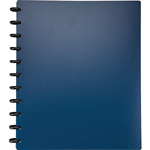 Staples Arc Customizable Durable Poly Notebook System, Navy, 11