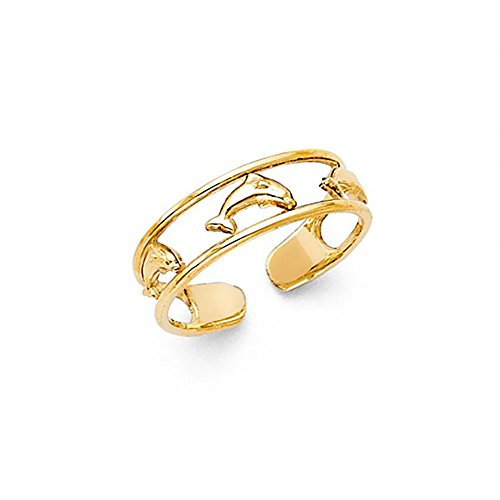 American Set Co. 14k Yellow Gold Dolphin Toe Ring