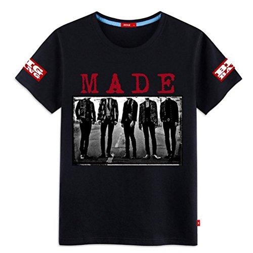 韓流グッズ  応援グッズ Bigbang ビッグバン  ファッション・G-DRAGON GD  T-SHIRT メンズ tシャツ G-DRAGON (ジードラゴン) グッズ 男女兼用 ヘアルック (L  ホワイト)