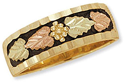 Black Hills Gold Mens Antique Wedding Band in 10K Gold from Landstrom - Size 10.5