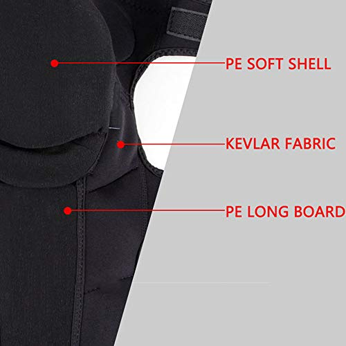 TY BEI Kneepad Kneepad - Motorcycle Knee Pads Protector Sports Scooter Motor-Racing Guards Gears Scooter Protective Kneepad L/XL @@ (Color : Black, Size : L) by TY BEI (Image #5)