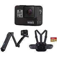 GoPro Hero7 CHDHX-701-RW 3-Way Grip and Chesty Camera (Black) with 32GB Memory Card
