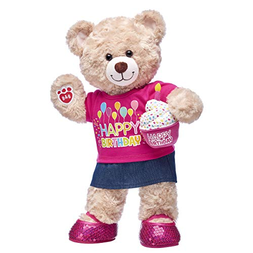 Build A Bear Workshop Happy Hugs Teddy Bear CeleBEARate Birthday Girl Gift Set, 16 inches ()