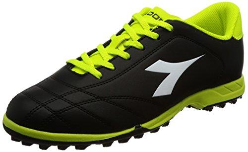 Diadora Men 6play Tf Footbal Shoes Black (Nero/Bianco/Giallo Fl Dd)