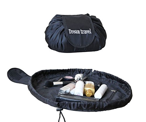 Portable Travel Magic Cosmetic Bag, Casual Large Capacity Lazy Makeup Bag, Toiletry Kit Organizer All-In-One Quick Pack Drawstring Storage Pouch by DOUBI