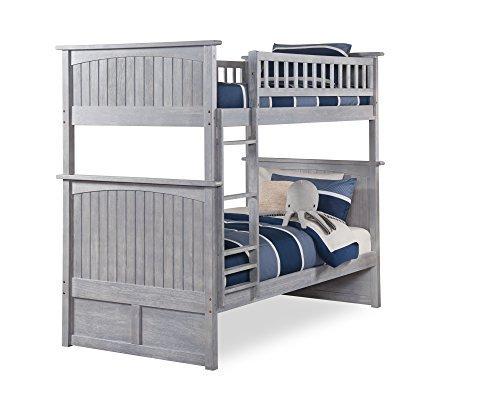 Atlantic Furniture AB59108 Nantucket Bunk Bed, Twin/Twin, Driftwood ()