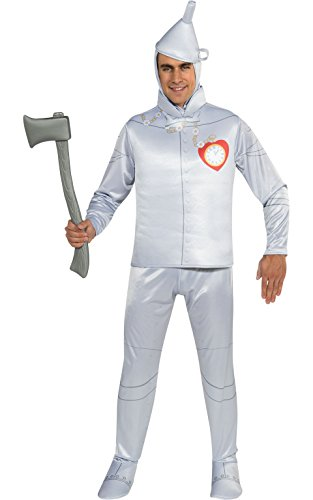 Tinman Costumes (Rubie's Costume Wizard Of Oz 75th Anniversary Edition Adult Tin Man, Silver, One Size Costume)