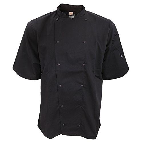 Le Chef Unisex Short Sleeve Executive Jacket (XS) (Black) by Le Chef