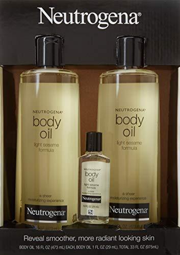 2 Pack of Neutrogena Body Oil Light Sesame Formula, 2-16 fl. oz bottles, Total of 32 fl. oz. by Neutrogena (Image #3)
