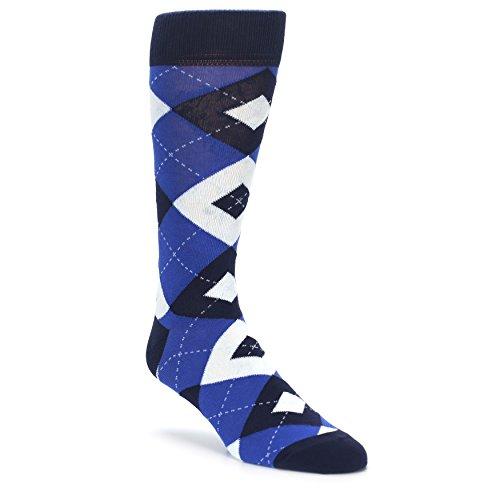 Statement Sockwear Men's Argyle Groomsmen Wedding Socks (Horizon Marine Mist Blue) (Horizon Wedding)
