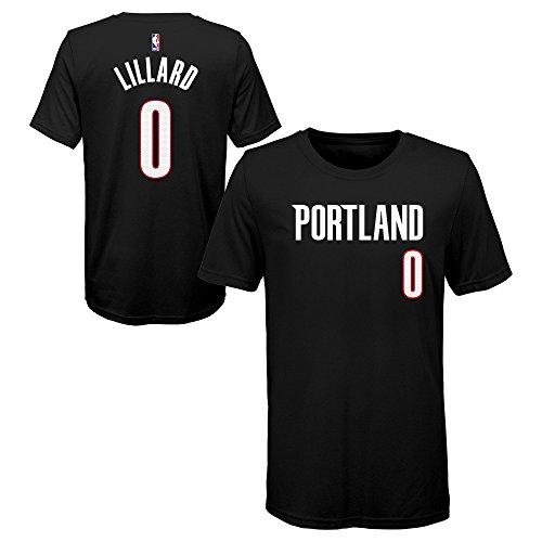Damian Lillard Portland Trail Blazers Black Youth Name & Number T Shirt (Large 14/16)