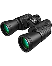 20x50 High Power Binoculars for Adults with Low Light Night Vision, Compact Waterproof Binoculars for Bird Watching Hunting Travel Football Games Stargazing with Carrying Case and Strap