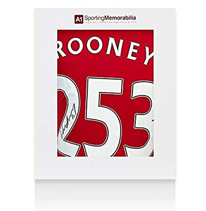 98f5eb18a34 Wayne Rooney Signed Manchester United Shirt 253 Record Goalscorer Special  Editio - Autographed Soccer Jerseys