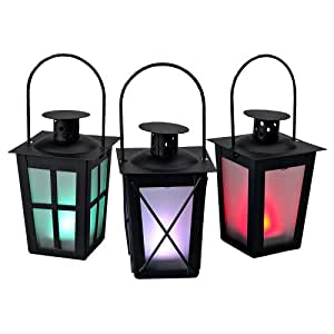 Everlasting Glow Metal Mini Lantern With LED Tealight