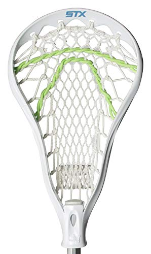 STX Lacrosse Youth Girls Lilly Complete Stick with Crux Mesh Pocket, White
