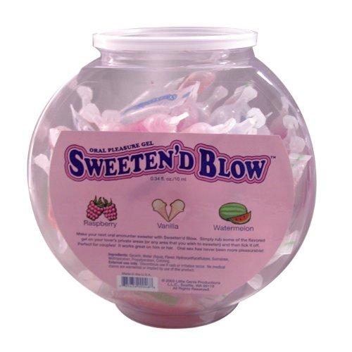 Sweeten D Blow: Oral Gel Bowl (72) Asst. ---(Package Of 2) by Little Genie