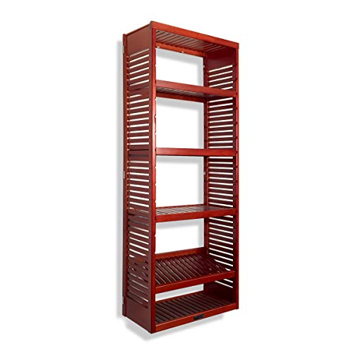 John Louis Home 16in. Deep Storage Tower - Red Mahogany Finish ()