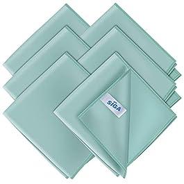 MR.SIGA Ultra Fine Microfiber Cloths for Glass, Pack of 6, 35 x 40 cm 13.7″ x 15.7″