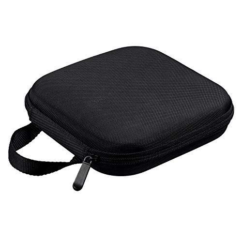 Rioddas Hard Drive Bag, Shockproof Portable Travel Carrying Case for External Hard Drive, CD DVD Blu-Ray Dis Duplicate Floppy Hard Drive with Extra Storage Pocket and Strap - Classical Black