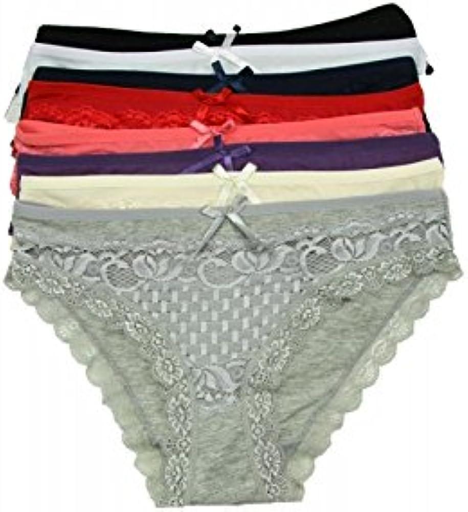 MIDI Shopping – Lote 8 bragas mujer (algodón y encaje m/l, L/XL, XL/XXL 1818 multicolor: Amazon.es: Ropa y accesorios