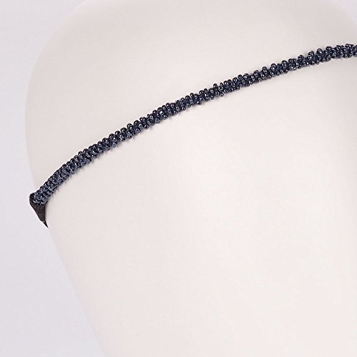 Headband Mariage Perle Gris bleu - Headband Perle - Bandeau Cheveux