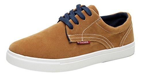 Xiaxian Mens Casual Shoes(10 D(M)US,Brown)