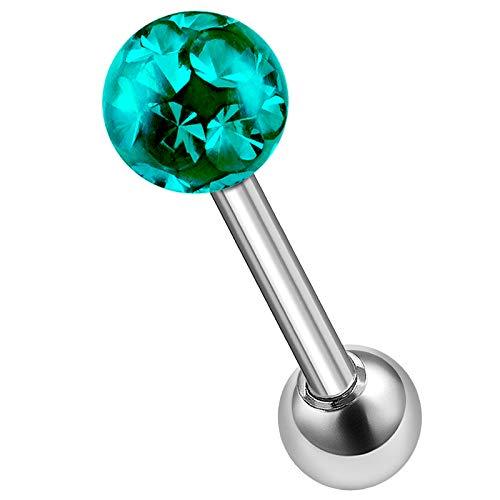 - Steel 16g 5/16 8mm Tragus Stud Piercing Jewelry Nose Eyebrow Medusa Spider Bite 3mm Lower 4mm Blue Zircon Ferido Ball M1963